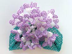 ビーズの紫陽花