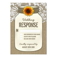 71 best Rustic Sunflower Wedding Invitations images on Pinterest in ...