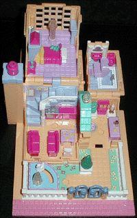 1994 - Polly Pocket Light-up Hotel - Pollyville - Bluebird Toys    aka Polly's Villa    Bluebird Ref. No. 950301