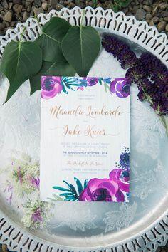 Purple Gold Wedding Colors ideas : http://www.confettidaydreams.com/purple-gold-wedding/