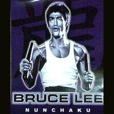 Glowing Bruce Lee Nunchaku Poster  $3.99