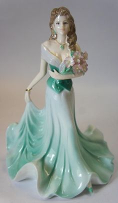"""Coalport Lady Figurine Ladies of Fashion Collection """"Margaret"""" Made in England."""