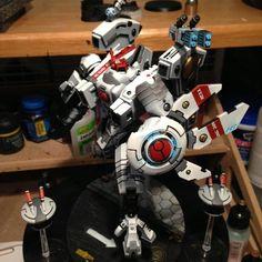 Tau Riptide by on DakkaDakka Tau Army, Tau Warhammer, Tau Empire, Blue Color Schemes, Robots, Coloring, Workshop, Poses, Inspiration