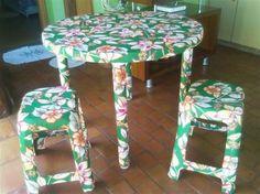 Personalizar cadeiras de plástico antigas 011