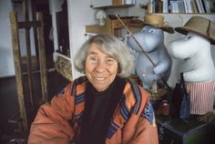 Finland-Swedish artist and author Tove Jansson created the beloved Moomintrolls, a couple of whom are shown here in statue versions.