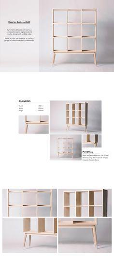 [Ash] Hyperion 3X3 Bookcase Bookshelf Design, Bookcase Storage, Web Design, Layout Design, Unique Furniture, Furniture Design, Furniture Brochure, Catalog Design, Apartment Furniture