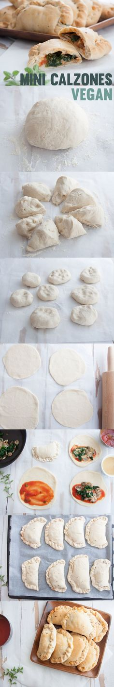 Vegan Mini Calzones #vegan | http://ElephantasticVegan.com
