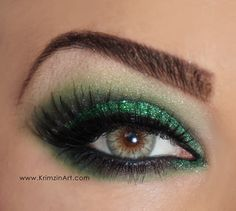 St Paddys Day eyeshadow tutorial