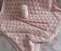 Ravelry: La baby blanket de Clara pattern by Alice Madehere Knitted Baby Blankets, Baby Blanket Crochet, Crochet Baby, Knitting For Kids, Baby Knitting Patterns, Tricot Baby, Plaid Crochet, Baby Shawl, Baby Sewing Projects