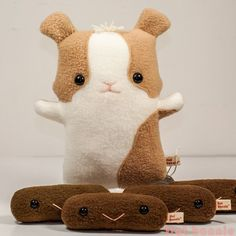 Guinea Pig poo plush - Piggy poop plushie - Plush Stuffed Animal Poop - Flat Bonnie - 4