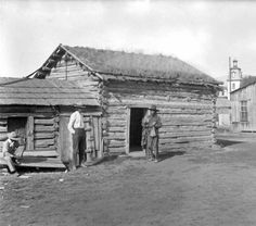 Old log cabin occupied by Indian - Dirty John - located at old Mission, Flathead Reservation, St. Ignatius, Mont., Flathead Project :: Western History