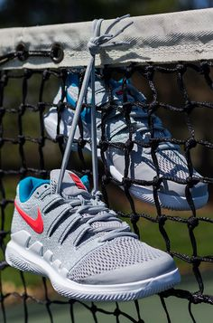 1b3543cabad7 Nike Air Zoom Vapor X Womens Tennis Shoe - Wolf Grey Hot Lava White Blue  Nebula