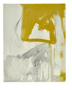 Franz Kline (American, Ochre and Grey Composition, 1955 - Barris Gumbley Watercolor Artists, Oil Painting Abstract, Watercolor Paintings, Abstract Art, Oil Paintings, Painting Art, Landscape Paintings, Franz Kline, Indian Paintings