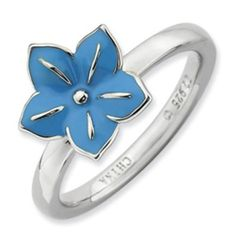 Sterling Silver Stackable Expressions Morning Glory Ring QSK935