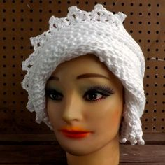 Floppy Sun Hat White Crochet Hat Womens Hat Trendy Summer Hat Crochet Beanie Hat Cotton Hat White Hat LAUREN Womens Crochet Hat  by strawberrycouture by #strawberrycouture on #Etsy