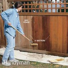 Make a gray, sagging wood fence look new again. With a few simple repairs, a thorough wash with a power washer, and a nourishing coat of oil stain your fence will look almost like it did the day it was built.