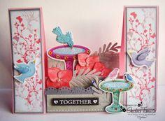 Center Step Card for Love Birds  http://arty-sorts.blogspot.in/2014/02/center-step-card-for-love-birds.html