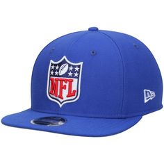 Men s NFL Shield Logo New Era Royal Original Fit 9FIFTY Adjustable Snapback  Hat 431010fd836a