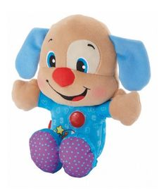 Fisher-Price Laugh n Learn Sing n Sleep pal-Nighttime Puppy Plush Toy Blue