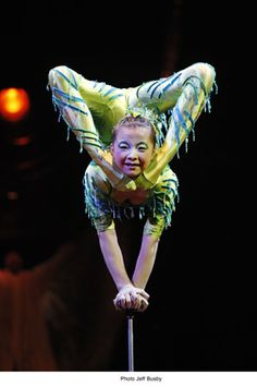 Cirque du Soleil Dralion in Saskatoon. This little performer was absolutely incredible!!
