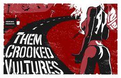 Them Crooked Vultures Poster - Ryan Snodgrass (aka filthymcfatten) [deviantART]