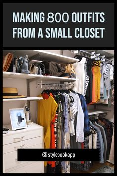 Here's the trick I use to mix and match a ton of outfits from a small wardrobe. It's super easy and has helped me reduce my shopping while still dressing well! Tiny Closet, Closet Space, Small Closet Organization, Small Wardrobe, Mix N Match, White Tees, Super Easy, Nice Dresses, Dressing