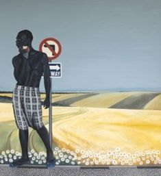 Ian Mwesiga (Ugandan, b. 1988), Adam of Genesis, 2018. Oil on canvas, 165 x 150 cm.