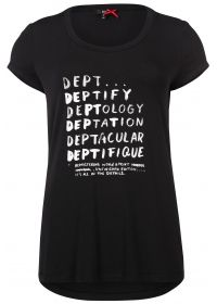 T-shirt met deptify print zwart  -Viscose elastische jersey  -Logo print  -Recht model  -Korte mouw  EUR 39.95  Meer informatie