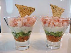 Verrines de #crevettes et #saumon fumé #recettesduqc #tapas