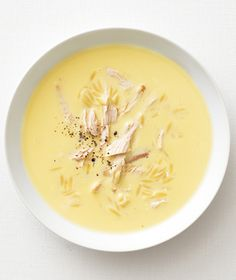 Greek Lemon Soup with Chicken from Real Simple