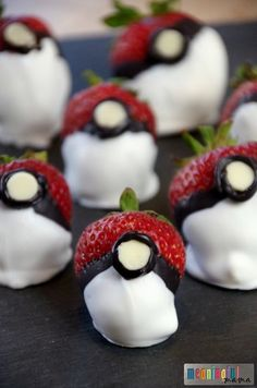 Chocolate Covered Strawberry Pokemon Go Balls - Pokemon Food and Party Ideas for Kids or Adults