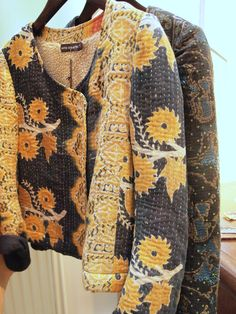 Antik Batik Jackets. Would love to make something like this.