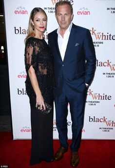 Dynamic duo: The 60-year-old star was accompanied by his 40-year-old wife of a decade as she donned a daring sheer black top featuring a beaded detailing