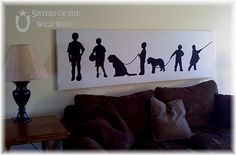 25 DIY Art Tutorials, love the family silouette