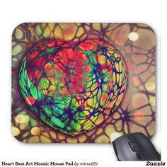 Heart Beat Art Mosaic Mouse Pad