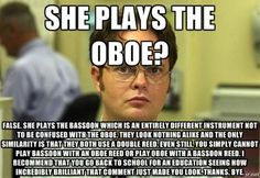 If I had a nickel for every time someone called Bassanova (my bassoon) and oboe, I would be rich by now