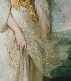 Portrait of Lady Sunderland (details) by Joshua Reynolds (1723-1792) oil on canvas, 1786