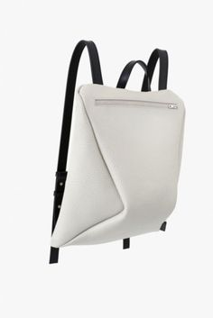 UNDER MY ROOF - leather bags - 90° Backpack Dover White