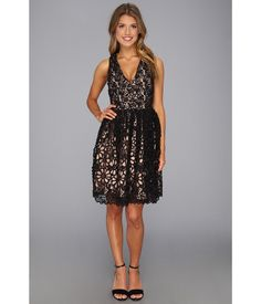 Chain-Black-Lace-Dress-