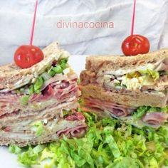 sandwich-club Deli Sandwiches, Deli Food, Chapati, Picnic Foods, Breakfast Lunch Dinner, Recipe Images, Canapes, Quesadilla, Fajitas
