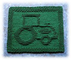 Ravelry: John's Tractor Dishcloth pattern by Rachel van Schie $2.00 download
