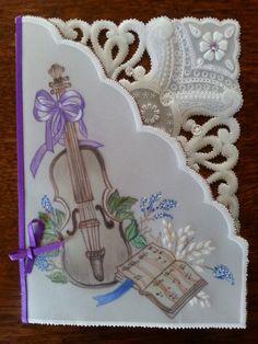 Violin............Colour and white work