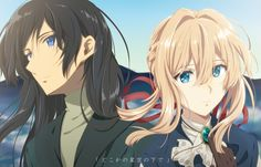 """""""Leon Stephanotis"""" """"Violet Evergarden"""" i wanna ship them. And hope they can meet each other again and see another commet together. That will be awsome Violet Evergreen, Manga Anime, Anime Art, Violet Evergarden Anime, Kyoto Animation, Howl's Moving Castle, Another Anime, Light Novel, Anime Love"""