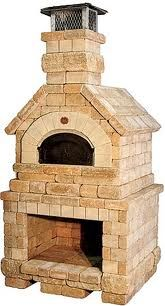 backyard fireplace with a pizza oven