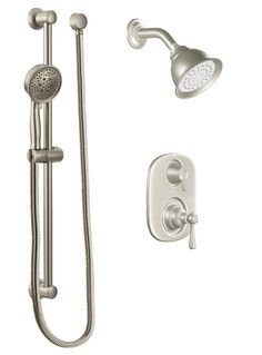 View The Moen 604S Pressure Balanced Shower System With 2.5 GPM Shower  Head, Diverter,