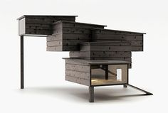 """Putting the """"Chic"""" in Chicken: 6 Modernist Coops - http://modernfarmer.com/2015/01/putting-chic-chicken-6-modernist-coops/?utm_source=PN&utm_medium=Pinterest&utm_campaign=SNAP%2Bfrom%2BModern+Farmer"""