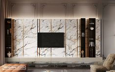 Villa in Dubai, tv wall design, Tv Cabinet Design, Tv Wall Design, Villa, Living Room Tv Unit Designs, Modern Tv Wall, Dubai, Tv Wall Decor, Backdrop Design, Interior Concept
