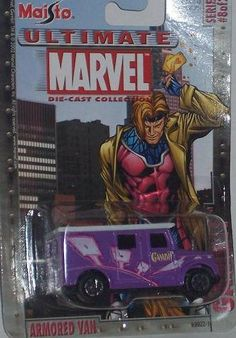 Maisto Ultimate Marvel #8 Gambit Armored Van 1:64 Scale Diecast Car X-Men by Maisto. $5.95. Many other Marvel character cars motorcycles and airplanes available in my Amazon store!. Awesome collectible - hard to find!. Car is approximately 2.5 inches long. Maisto Ultimate Marvel 1:64 Scale Diecast Car, MINT IN PACKAGE