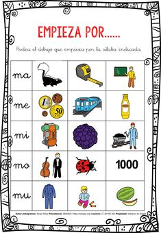 CONCIENCIA FONOLÓGICA EMPIEZA POR…... MA-ME-MI-MO-MU EDITABLE -Orientacion Andujar Dyslexia Activities, Dyslexia Strategies, Dyslexia Quotes, Struggling Readers, Speech Therapy, Editable, Teaching, Education, Speech Language Therapy