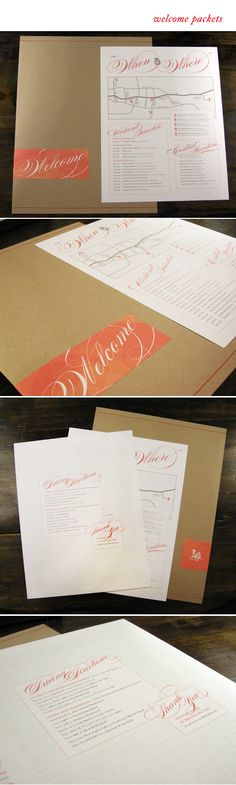 A.B. Design & Co welcome packet